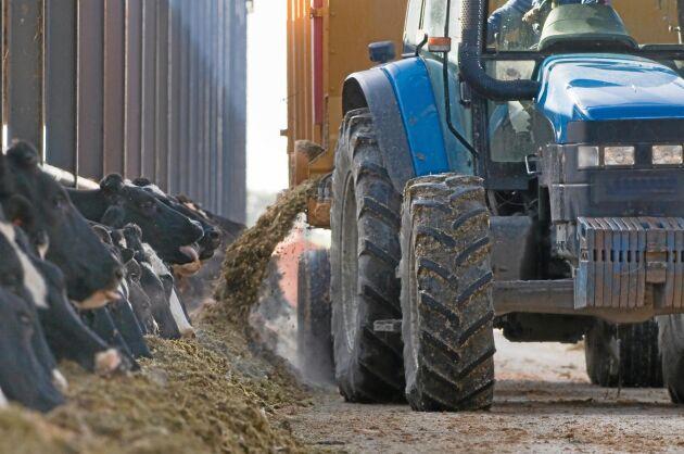 En lantbrukare omkom i går i arbetsplatsolycka med en maskin. Bilden har inget samband med olyckan.
