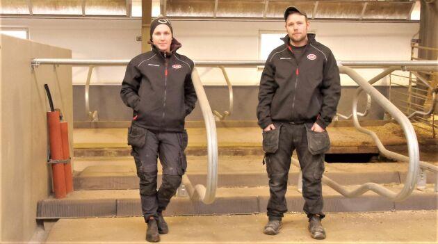 Malin Josefsson Prakt och Martin Josefsson Prakt räknar med att förbättrad komfort för korna ska bidra till att öka mjölkproduktionen.