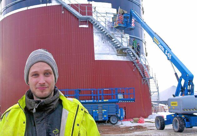 Tom Birgersson är projektledare för Hagelsrums satsning på att producera fordonsgas.