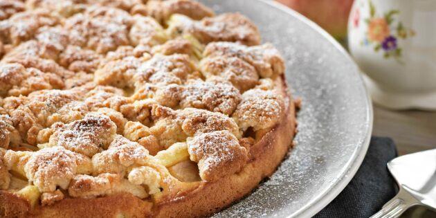 Äppelkaka med kardemummaströssel