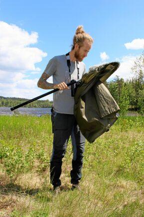 Slaghåven är ett effektivt hjälpmedel när Torbjörn Blixt är ute och letar bärfisar.