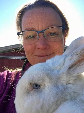 Malin Sundmark, kaninuppfödare.