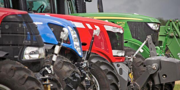 Traktorförsäljningen går som tåget