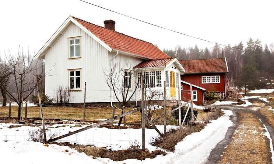 Land.se skriver om familjen Axelsson som renoverar huset med hjälp av naturen. Foto: Carina Olander