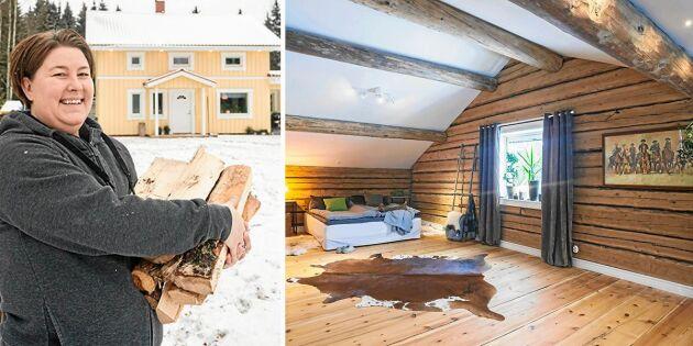 """Kristine byggde sitt hus runt en 200 år gammal loge: """"Fått det jag drömt om"""""""