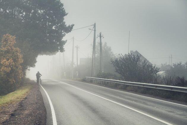 Gå på väster sida av vägen. Gäller även på gemensam gång- och cykelbana.
