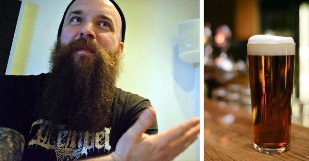 Arvid Landgren brygger öl i bryggeriet Tempel brygghus. Hans bakgrund som agronom är bra även när det gäller bryggning av öl.