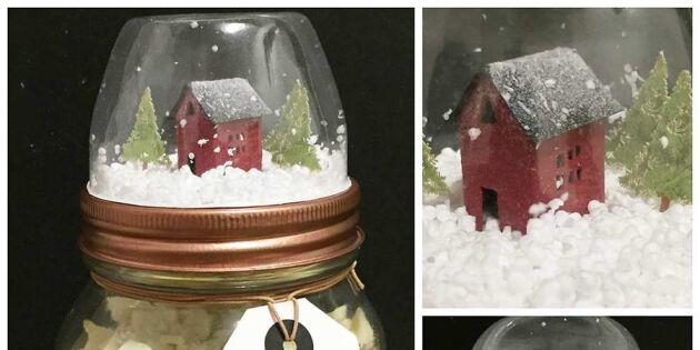 Bästa julklappen – kakburk med snöglob i locket!