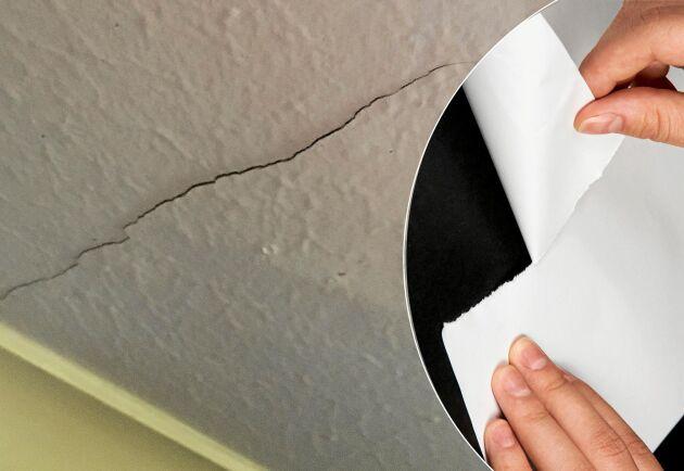 Rädda det gamla innertaket av spänd papp med en smart lagning.