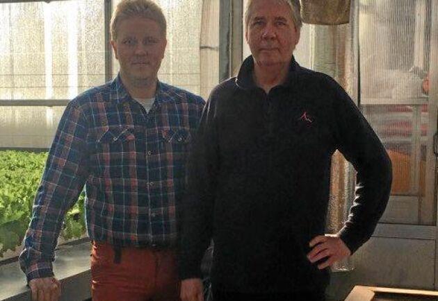 Jonatan och Mikael Albrecktson driver två företag i ett i Nikkala...