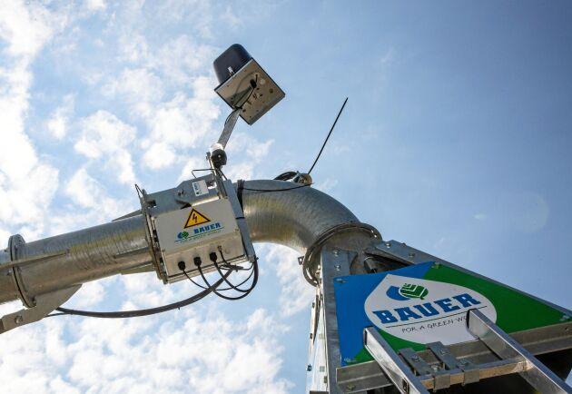 GPS-mottagaren och styrutrustningen på anläggningen reglerar magnetventilerna.