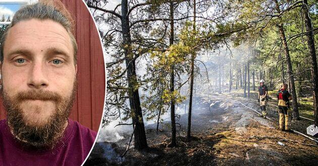 """""""Om du inte vill stödja Sveriges landsbygd så ha åtminstone den goda smaken och var tyst"""", skriver debattören och blivande småbrukaren Viktor Lindsta i en insändare."""