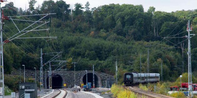 Nu invigs Hallandsåstunneln – det här har hänt längs med vägen
