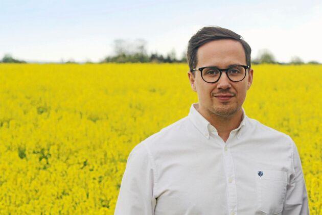 Victor Ebel, spannmålschef på Svenska Foder.