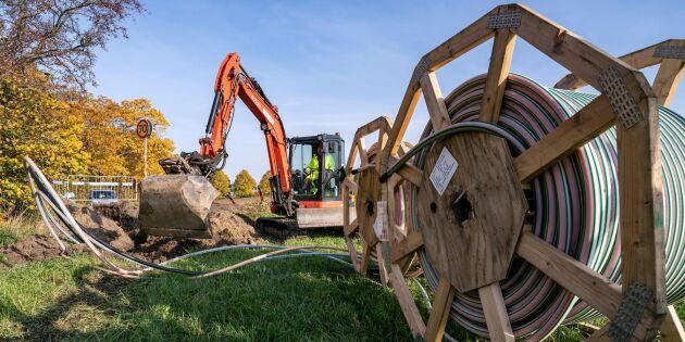 Fiberutbyggnaden på landsbygden tar fart