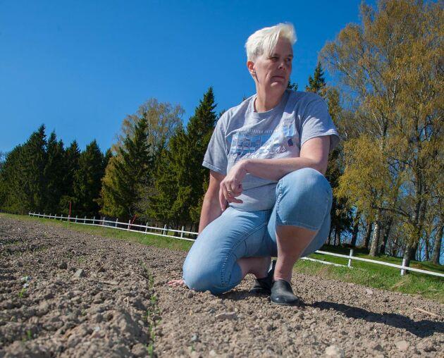 Catarina Rudolpson, lantbrukare utanför Enköping.