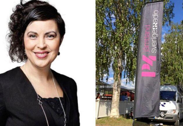 """Radio Jämtland är mest """"Radio Östersund"""". I Terese Bengards mening är de lokala redaktionerna väldigt centrerade till den ort (stad) där de sitter."""