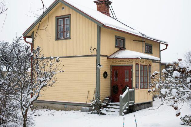 Huset byggdes 1890 och var i fint skick när Karin och Daniel köpte det.