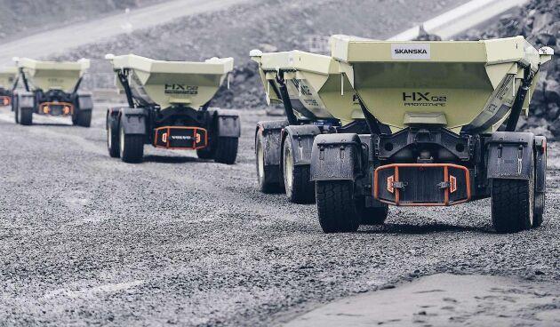 Fyra stycken fjärrstyrda och eldrivna dumper ska testas på Ovako i Hofors i mars.