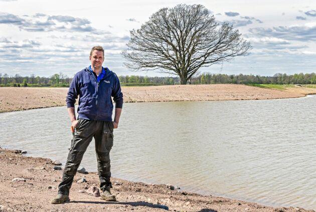 Tack vare nya bevattningsdammar kommer Olof Boson att kunna bevattna större delen av arealen.