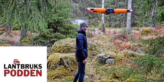 Lyssna: Jagad av selfiedrönare i skogen
