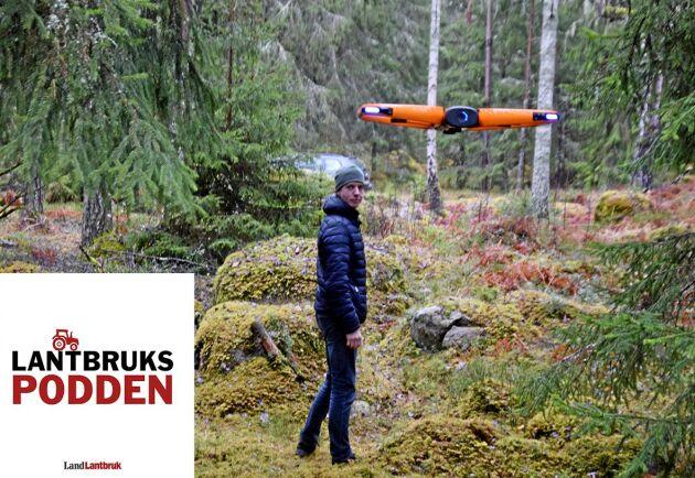 I veckans avsnitt av Lantbrukspodden gästar Anton Holmström och berättar om hur en drönare vara till nytta för skogsägare.