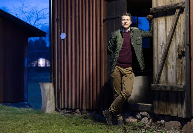 Mats Fröjdenstam, Skogsmästare och fastighetsmäklare på Areal i Örebro. Pressbild.