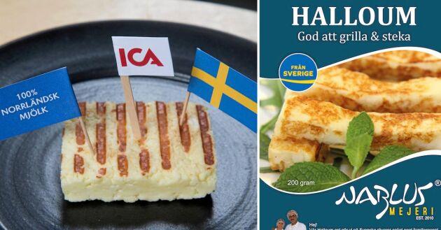 Ica och Coop storsatsar på en svensk variant av halloumi, tillverkad av svensk mjölk.
