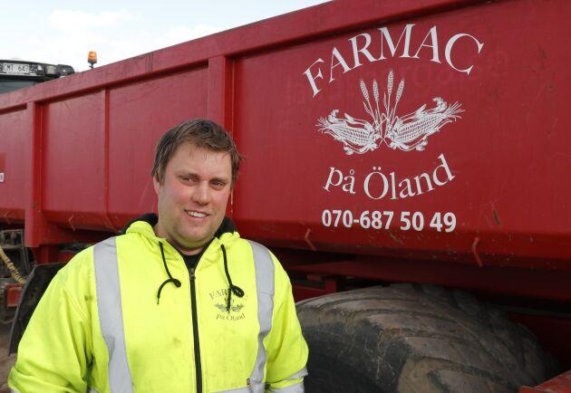 Satsningen på precisionsodling har Andreas Fredriksson från FarmAC på Öland gjort tillsammans med Lantmännen Maskin.