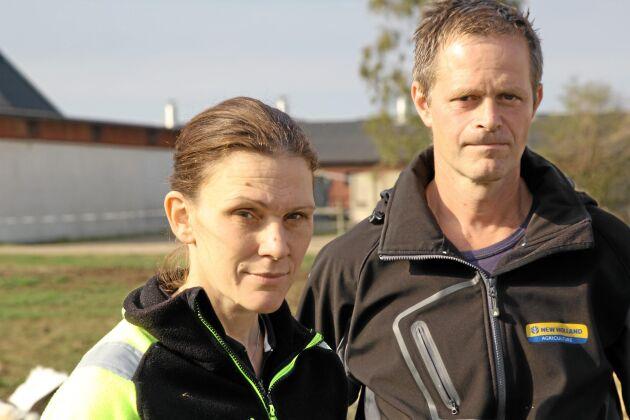 Magdalena och Magnus Gustavsson strävar efter optimal produktion och att jobba med små saker som på sikt sparar pengar
