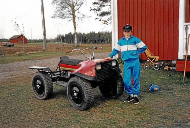 En av de första modellerna av maskinen som blev stilbildande för det självverksamma skogsbruket, Vimek Minimaster.