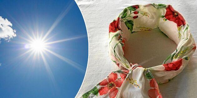 Så syr du en kylande krage som håller dig sval i värmen | Land.se