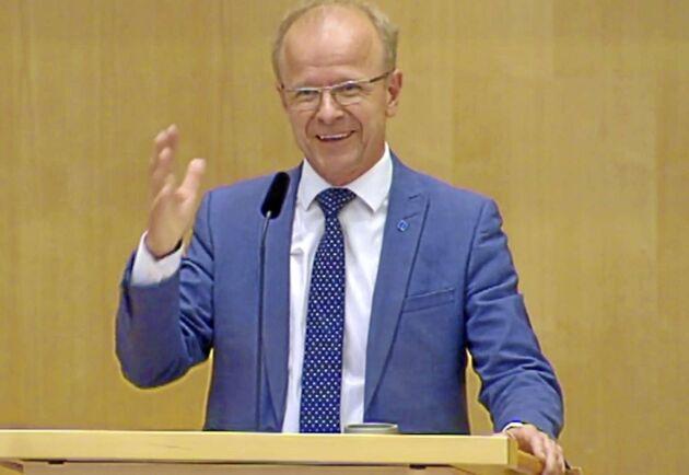 Mikael Oskarsson, KD, i riksdagsdebatten om sommarens skogsbränder.