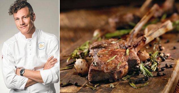 Årets kock 2015 Thomas Sjögren vet hur man tillagar perfekt lammkött.