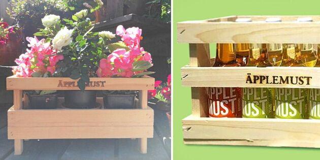 Återbruka Ikeas drickaback – gör ett fint blombord