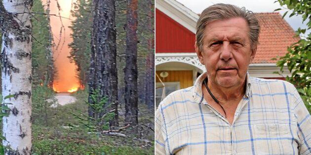 Björns skog ligger i aska –har förlorat sitt livsverk