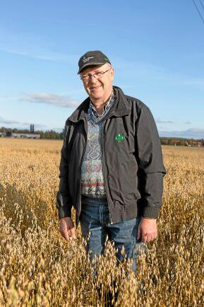 Lantbrukaren Arne Lindström var tidigare lokal LRF ordförande och började propagera för ökad spannmålsodling för 4-5 år sedan.