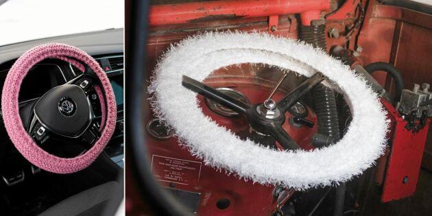 Sticka en varm och mjuk rattmuff till traktorn eller bilen