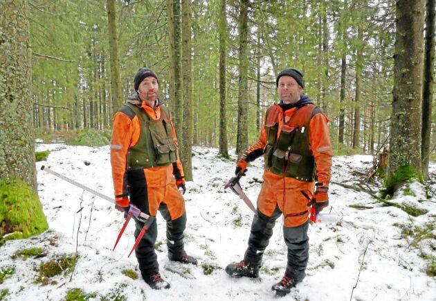 Tobias Nilsson och Johan Ardegård på Hushållningssällskapet.