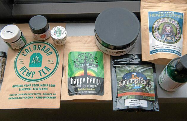 Happy heart och Happy hemp. Marknadsförningen av hampaprodukter i Colorado lovar mycket.
