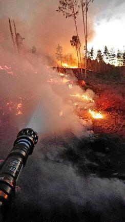 """I denna stund av verklig kris har det har inte funnits en gnutta oföretagsamhet eller lathet i Tereses hembygd Ragunda som drabbades av skogsbränderna, skriver hon. """"Bara en gemensam insats för att rädda bygden."""""""