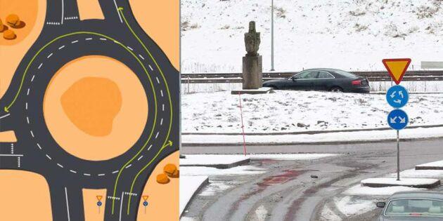 Så här ska du köra i en rondell - här är reglerna som gäller
