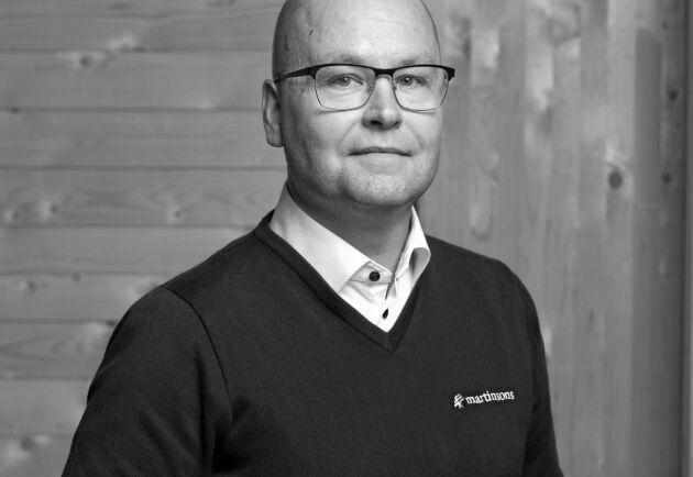Jesper Åkerlund, vd på Martinsons Byggsystem.