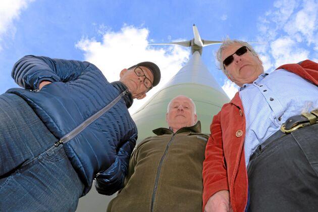 Förlorare. Bo Gunnarsson, Per-Åke Persson och Christer Laurell har tillsammans satsat 75 miljoner kronor på vindkraft, en satsning som går med förlust.