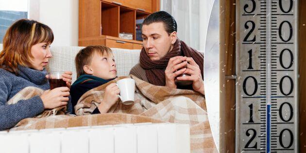 """Därför känns det så kallt inomhus runt """"nollan"""""""