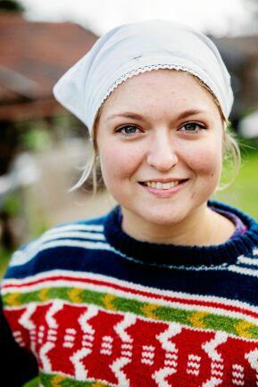 22-åriga Knis Anna Ersdotter Björklöf är redo att föra fäbodbruket vidare in i framtiden.
