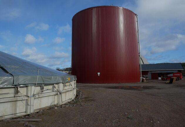 Biogas är ett sätt att minska gårdens miljöpåverkan.