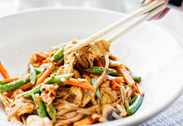 Använd det du redan har hemma och laga en god wok.