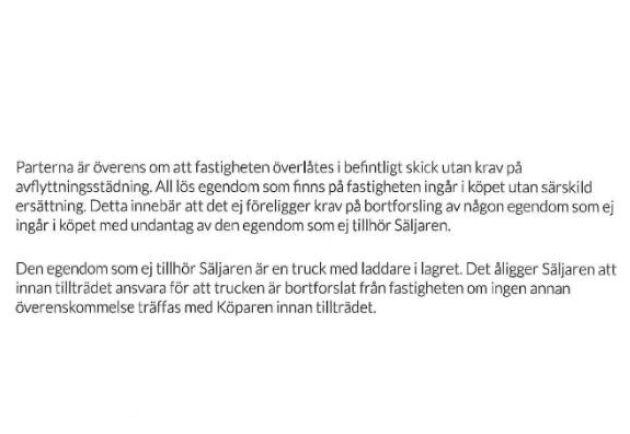 Ur kontraktet mellan Boxholms kommun och Arla.
