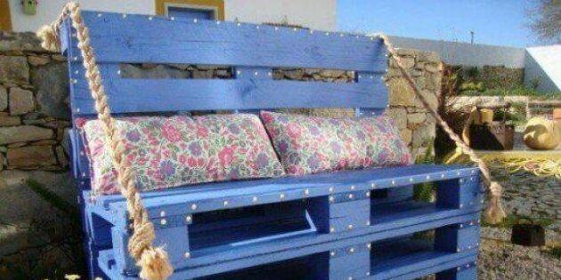 Trava en soffa av pallar